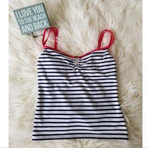 🌞 5/$25 Nautica striped tankini top